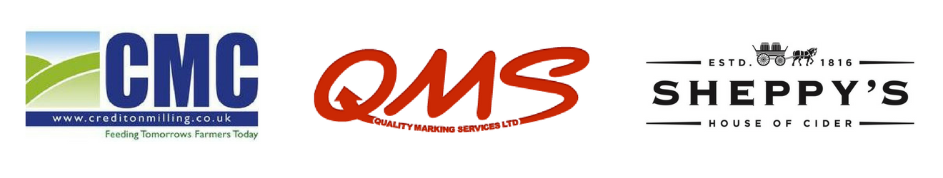 clienrs - Crediton Milling, QMS, Sheppy's Cider
